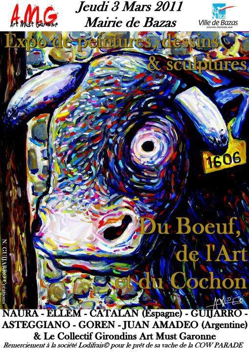 Affiche exposition collective pour Bazas