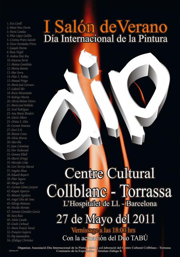 Affiche pour le Salon de Verano, Espagne, 27 mai-30 juin 2O11.