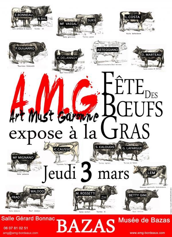 Affiche exposition du collectif  AMG pour Bazas, 2011.